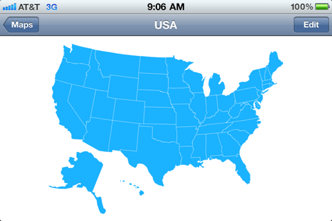 Maps Can Be Loaded Into The Map Task In This Case A Map Of The United States Of America
